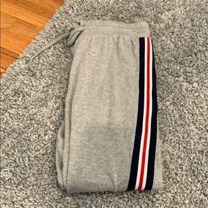 f21 striped sweatpants